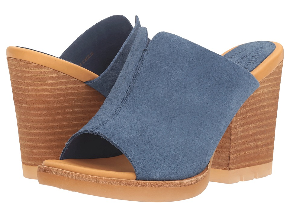 Kork-Ease - Lawton (Dark Blue Suede) Women's Wedge Shoes