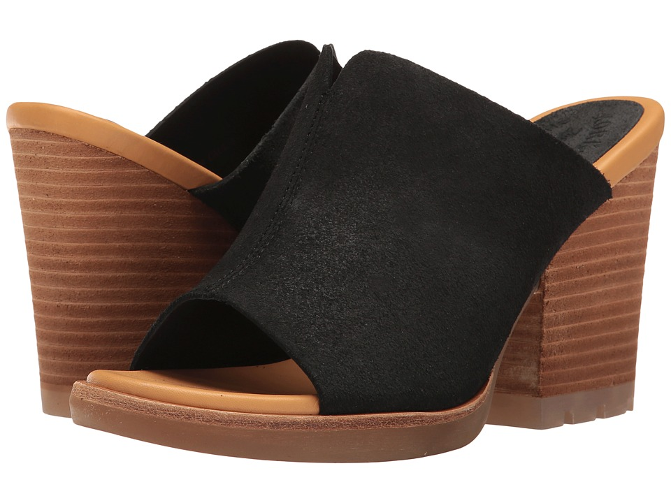 Kork-Ease - Lawton (Black Suede) Women's Wedge Shoes