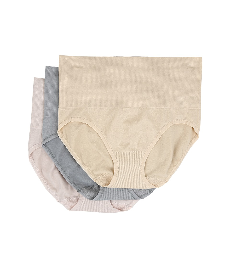 Yummie by Heather Thomson - Nylon Seamless Briefie 3-Pack (Hush/Nude/Sleet) Women's Underwear