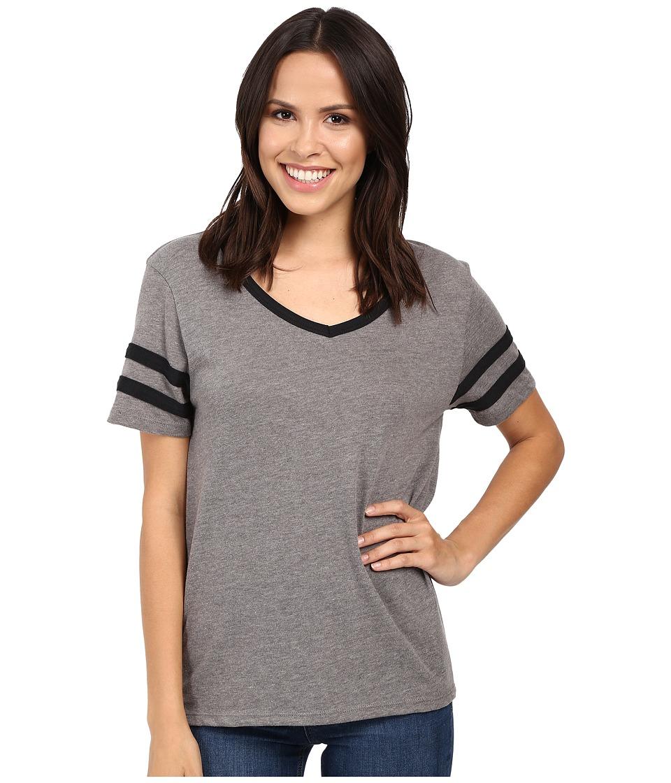 Alternative Varsity Vintage Jersey T-Shirt (Vintage Coal/Black) Women