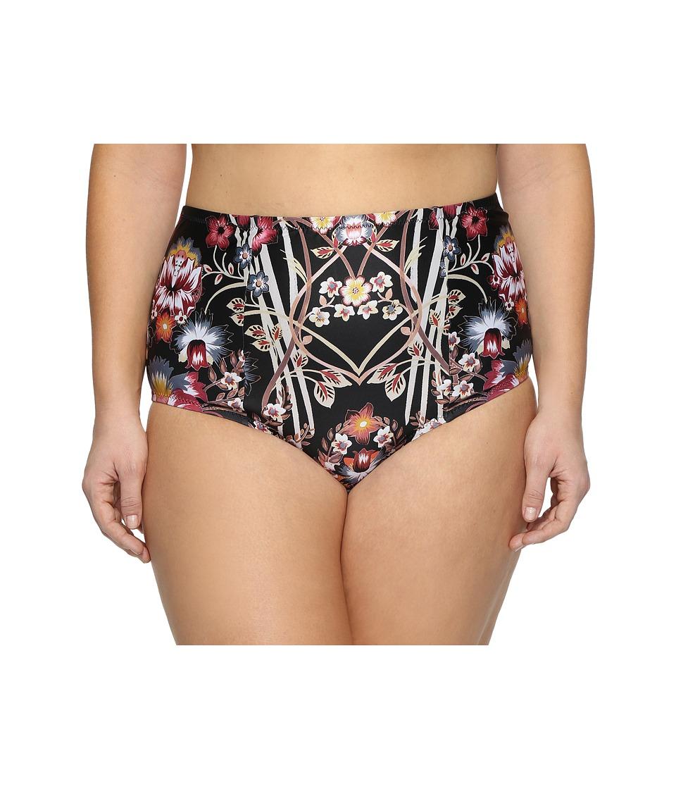 BECCA by Rebecca Virtue Plus Size Havana High Waist Bottoms (Multi) Women