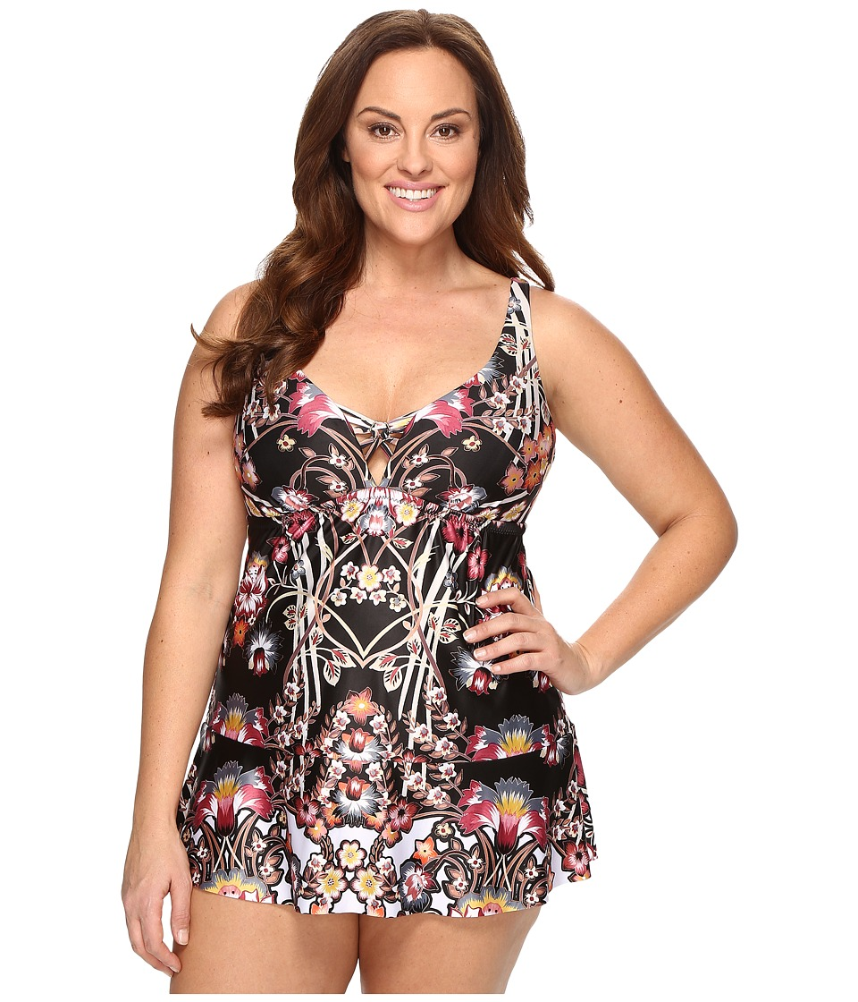 BECCA by Rebecca Virtue - Plus Size Havana One-Piece (Multi) Women's Swimsuits One Piece