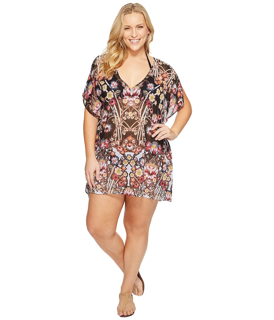 BECCA by Rebecca Virtue - Plus Size Havana Tunic Cover-Up (Multi) Women's Swimwear