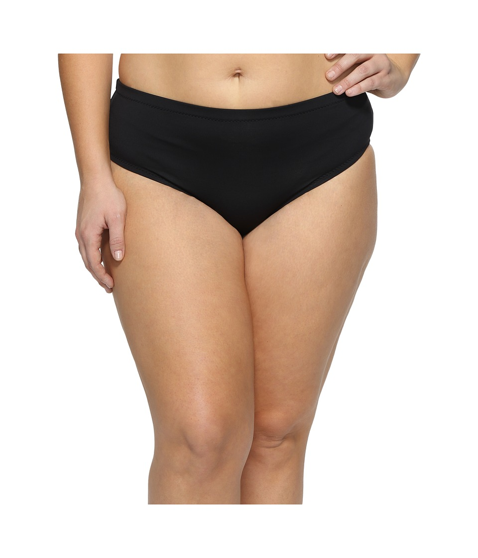 BECCA by Rebecca Virtue Plus Size Black Beauties Hipster Bottoms (Black) Women