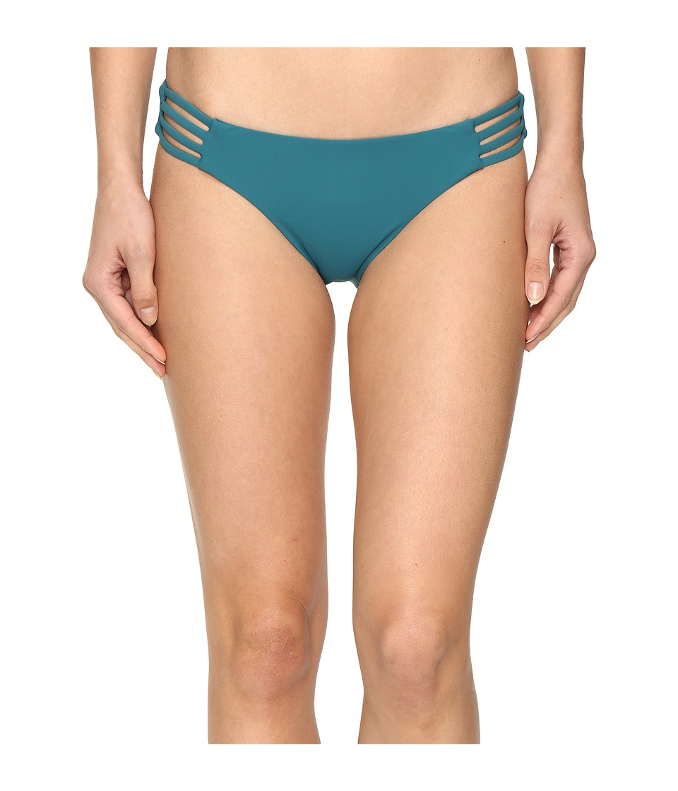 Red Carter Splice Dice Side Strap Classic Hipster Bottoms (Lagoon) Women