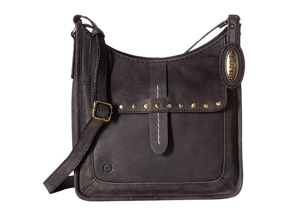 Born - Bronco III Studded Crossbody (Black) Cross Body Handbags