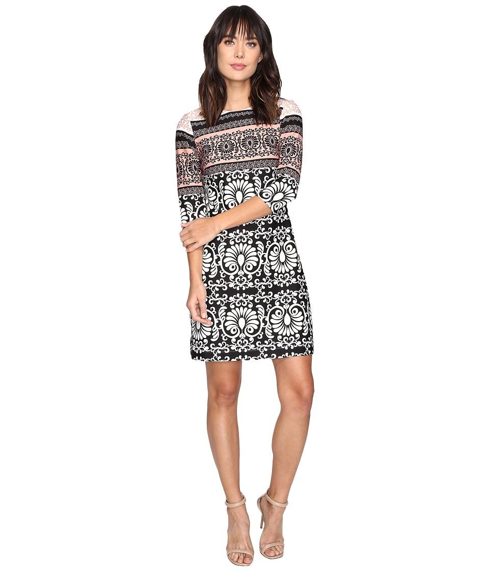 Taylor - Scuba Dress (Ivory/Peach) Women's Dress