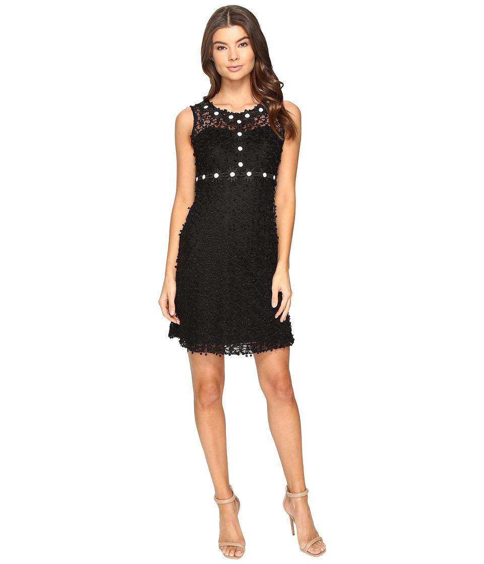 Taylor Mesh Lace Dress (Black/Ivory) Women
