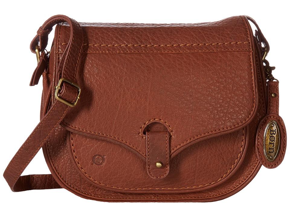 Born - Cody Zip Top Saddle Bag (Chestnut) Handbags