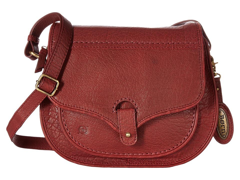 Born - Cody Zip Top Saddle Bag (Dark Cherry) Handbags