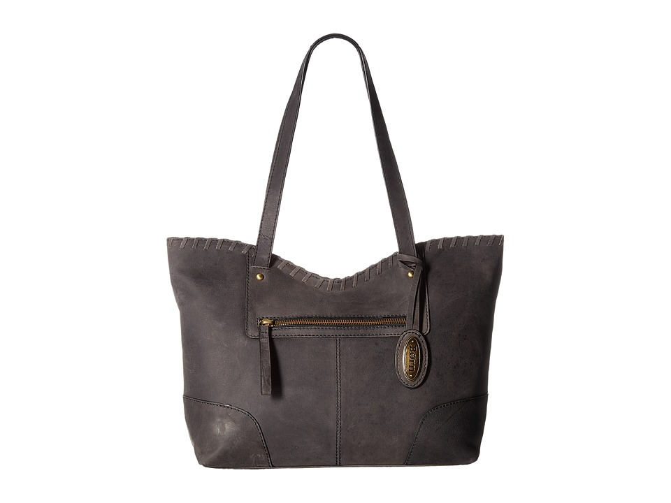 Born - Bronco III Whipstitch Tote (Black) Tote Handbags