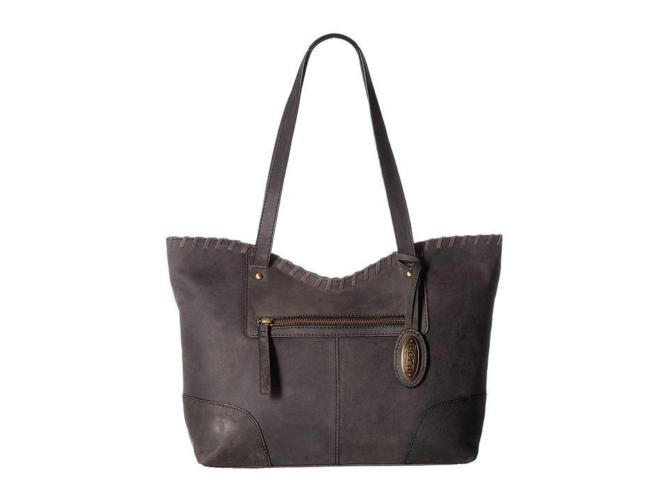 Born - Bronco III Whipstitch Tote (Black) Tote Handbags