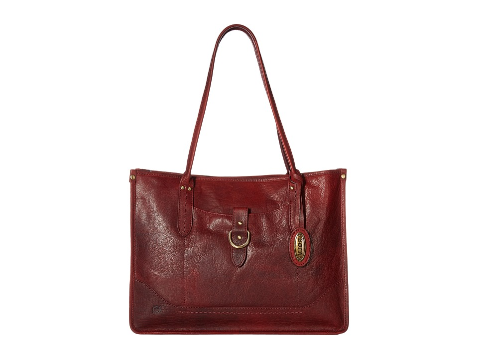 Born - Bronco I Large City Tote (Dark Cherry) Tote Handbags