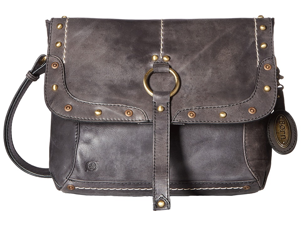 Born - Bronco III Studded Messenger (Black) Messenger Bags