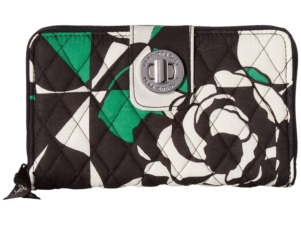 Vera Bradley - Turnlock Wallet (Imperial Rose) Bill-fold Wallet