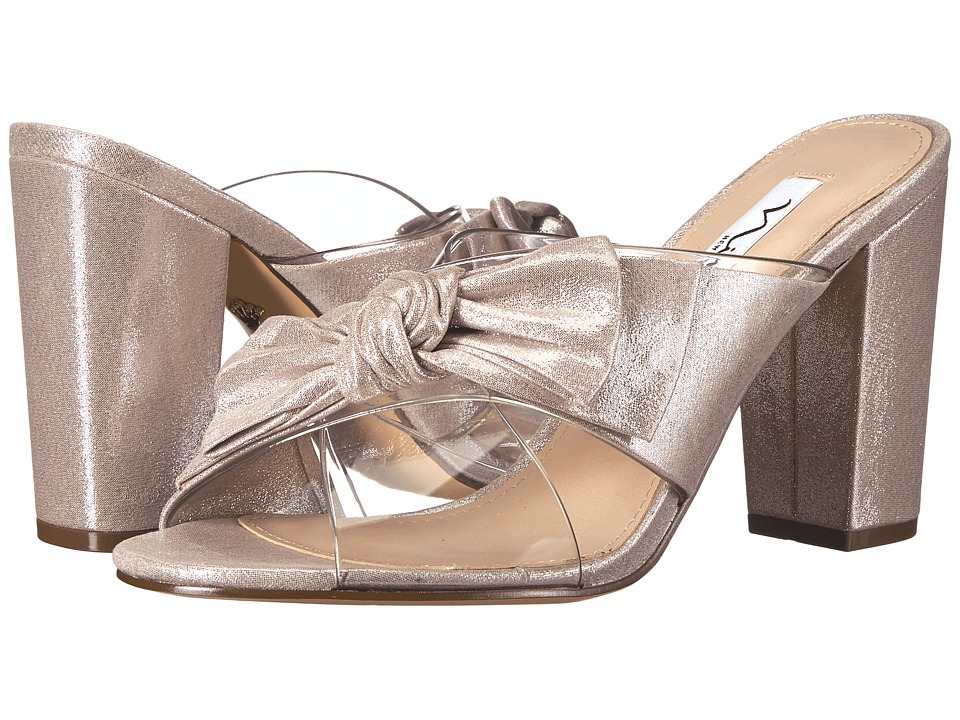 Nina - Samina (Clear/New Silver) Women's 1-2 inch heel Shoes