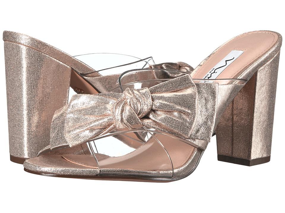 Nina - Samina (Clear/Taupe) Women's 1-2 inch heel Shoes