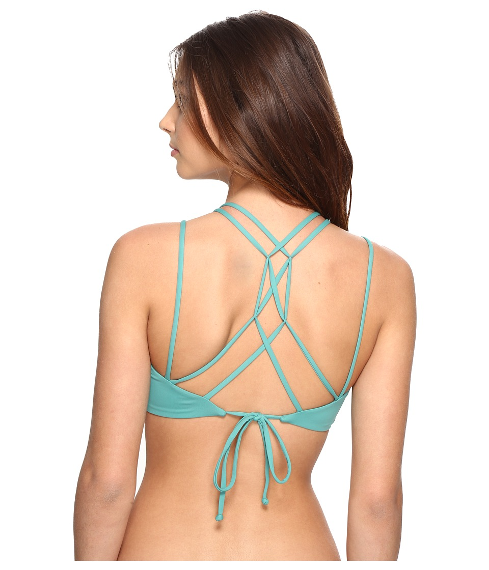 O'Neill - Malibu Solids Halter Top (Aloe) Women's Swimwear