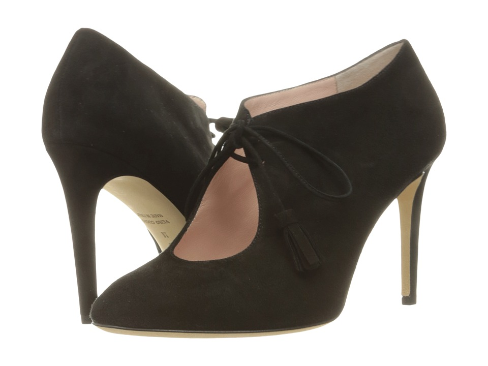 Kate Spade New York Davie Black Kid Suede High Heels