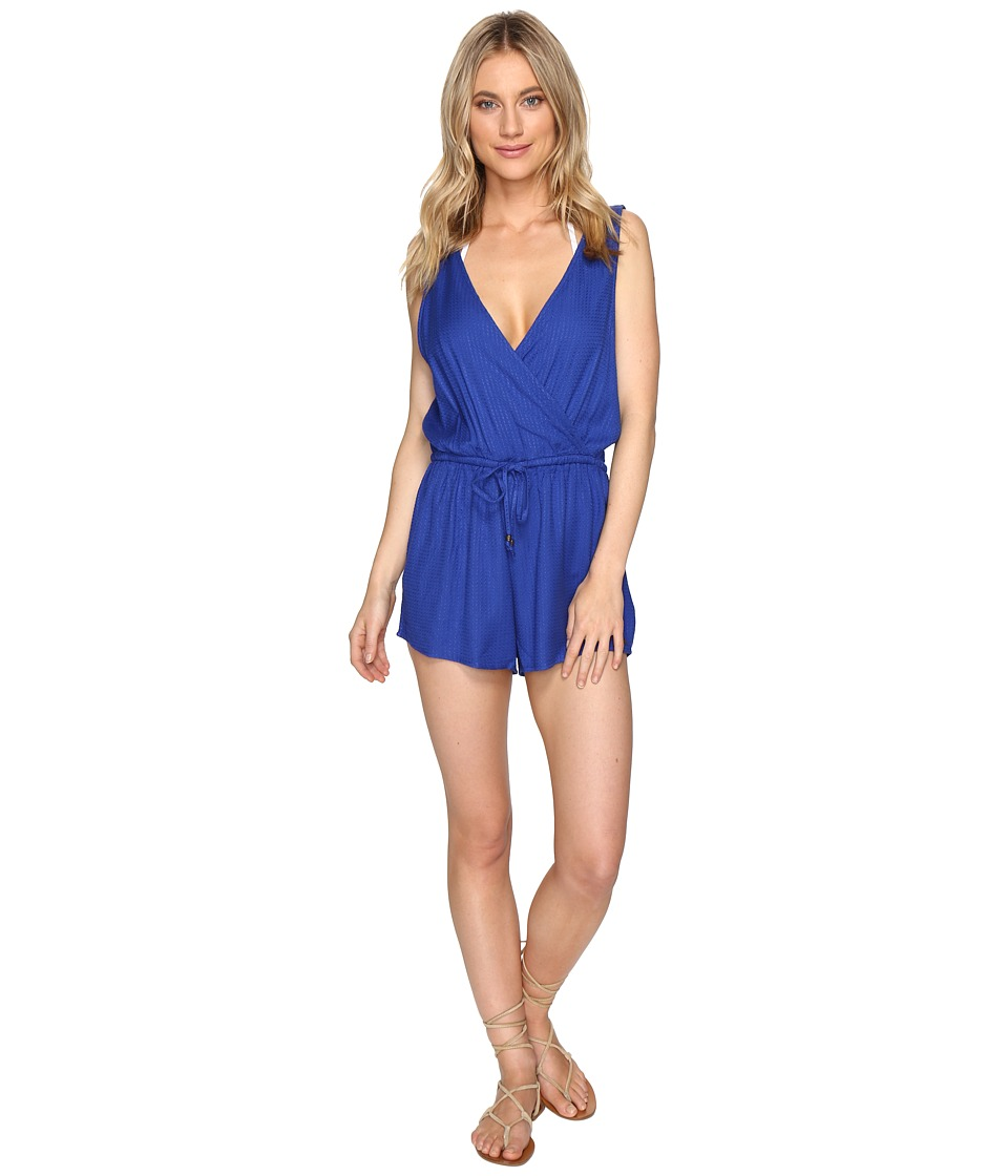 O'Neill - Danika Romper Cover-Up (Tahitian Blue) Women's Jumpsuit & Rompers One Piece