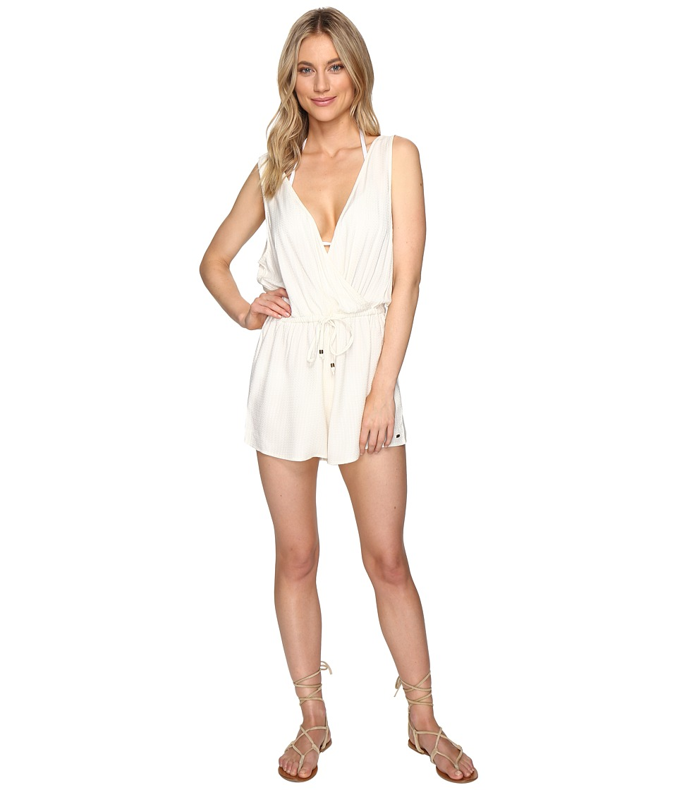 O'Neill - Danika Romper Cover-Up (Vanilla) Women's Jumpsuit & Rompers One Piece