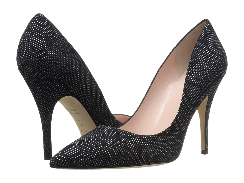 Kate Spade New York - Licorice (Black/Graphite Dot Suede) High Heels