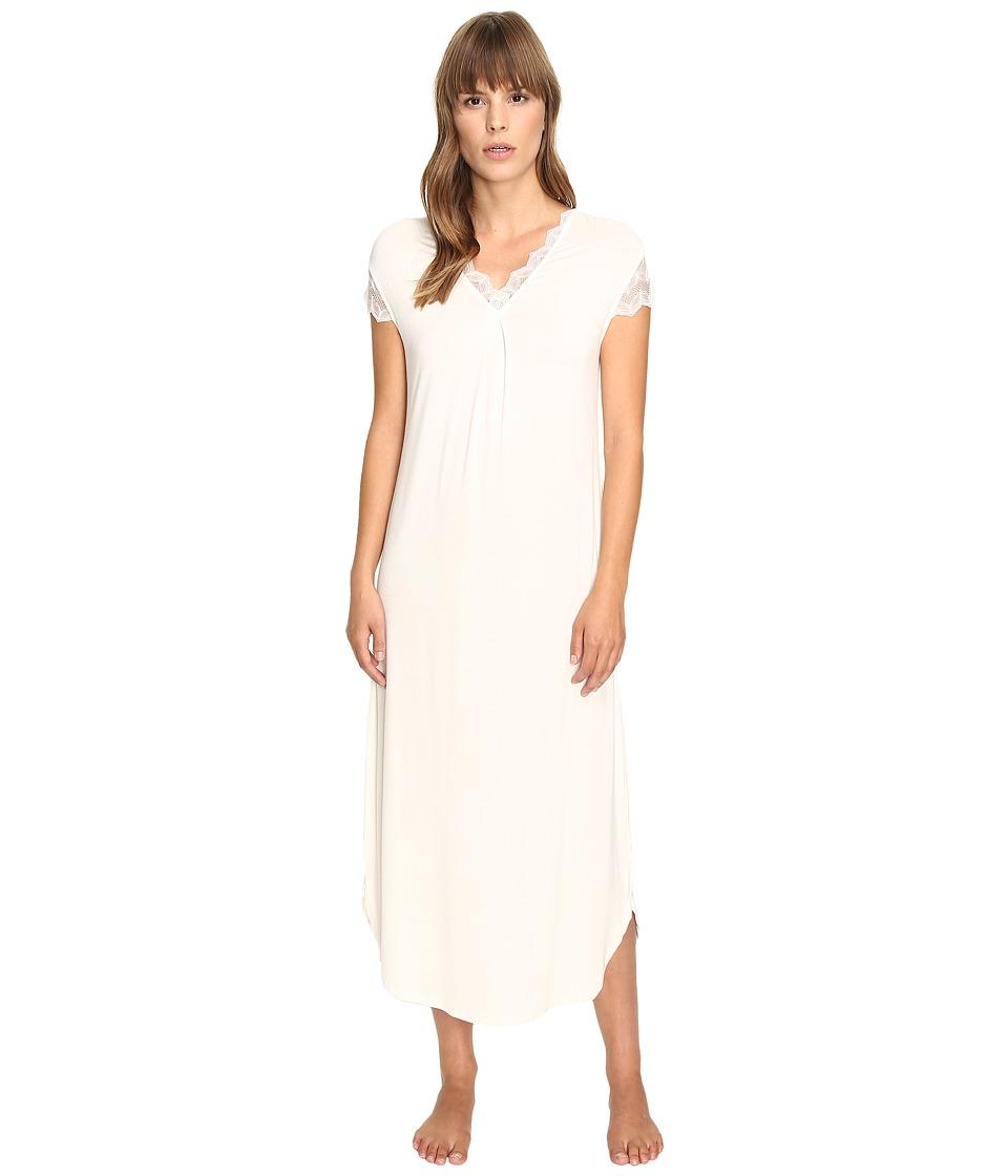 Oscar de la Renta - Solid Luxe Jersey Long Gown (Champagne) Women's Pajama
