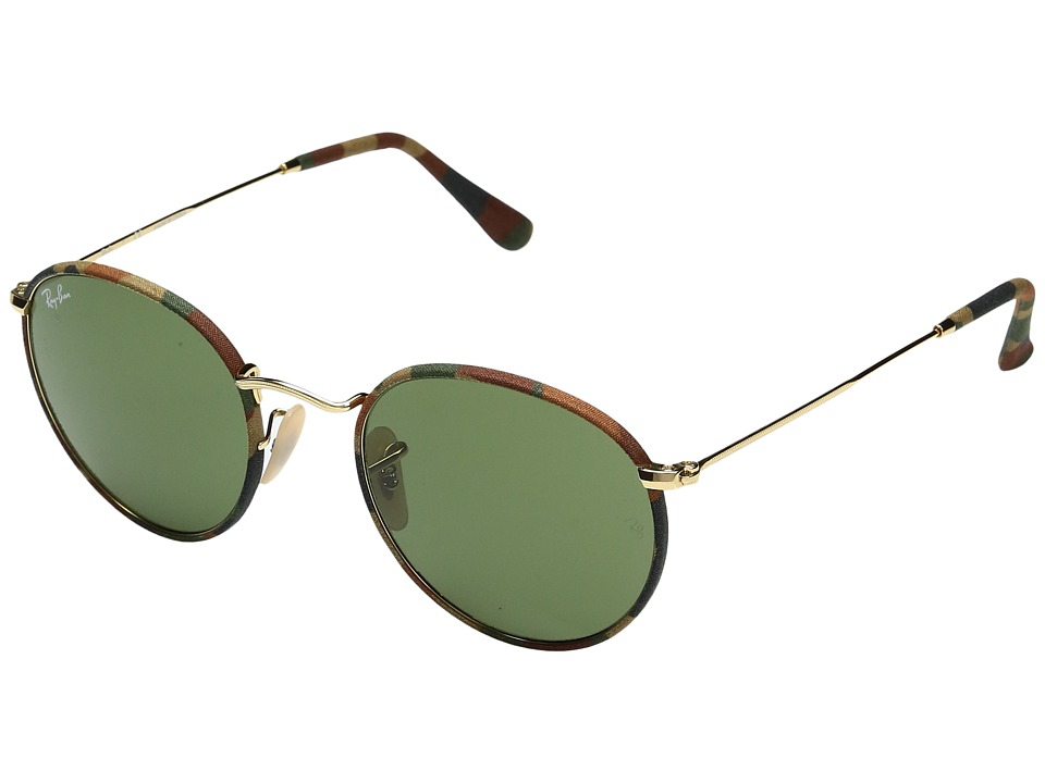 Ray-Ban - 0RB3447JM Round Metal (Brown) Fashion Sunglasses