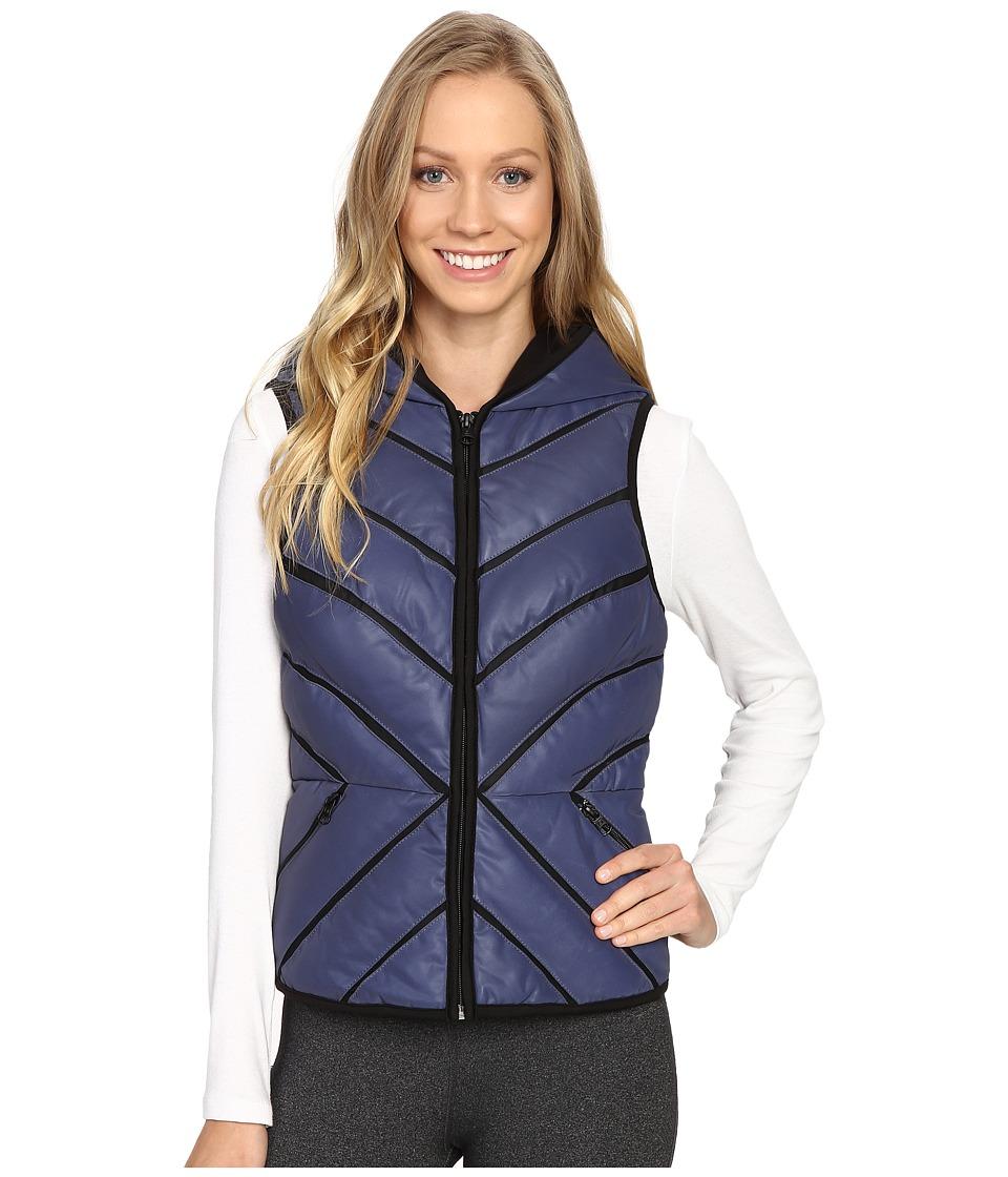Blanc Noir - Mesh Inset Puffer Vest Reflective (Midnight) Women's Vest