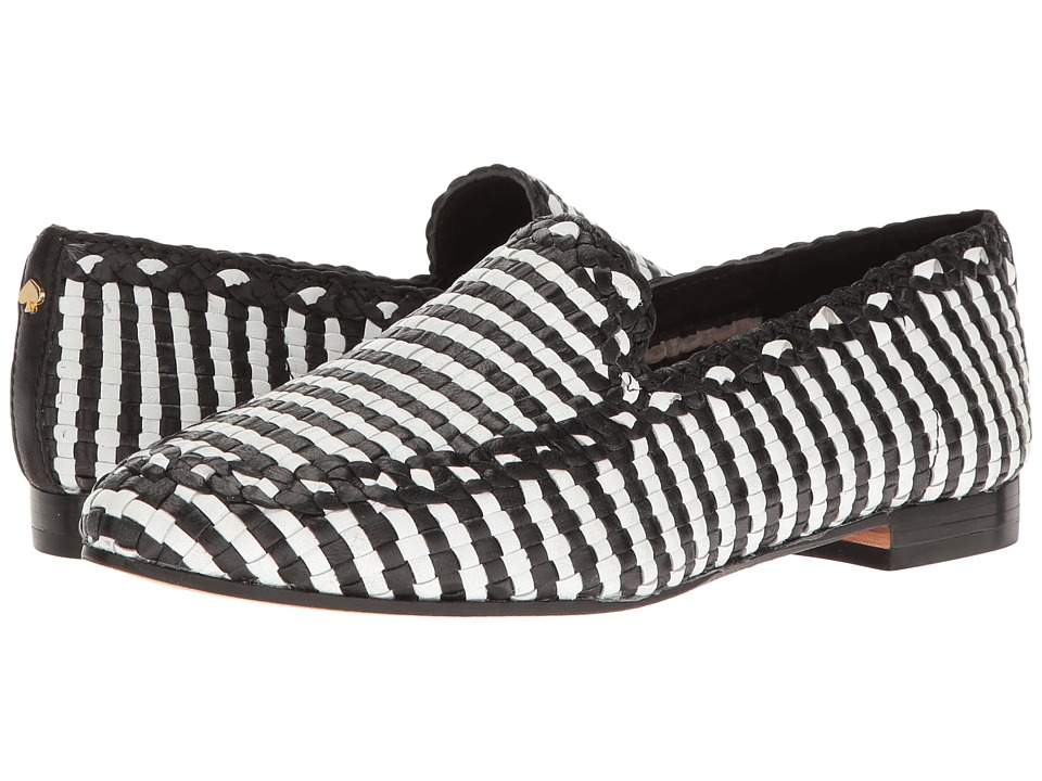 Kate Spade New York Caylee Black-White Woven Nappa Shoes