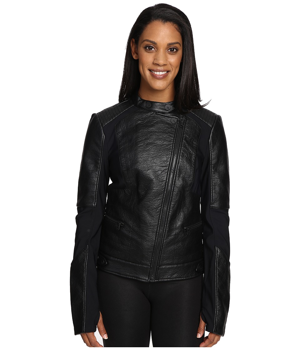 Blanc Noir - Ryder Moto Jacket (Black/Grey) Women's Coat