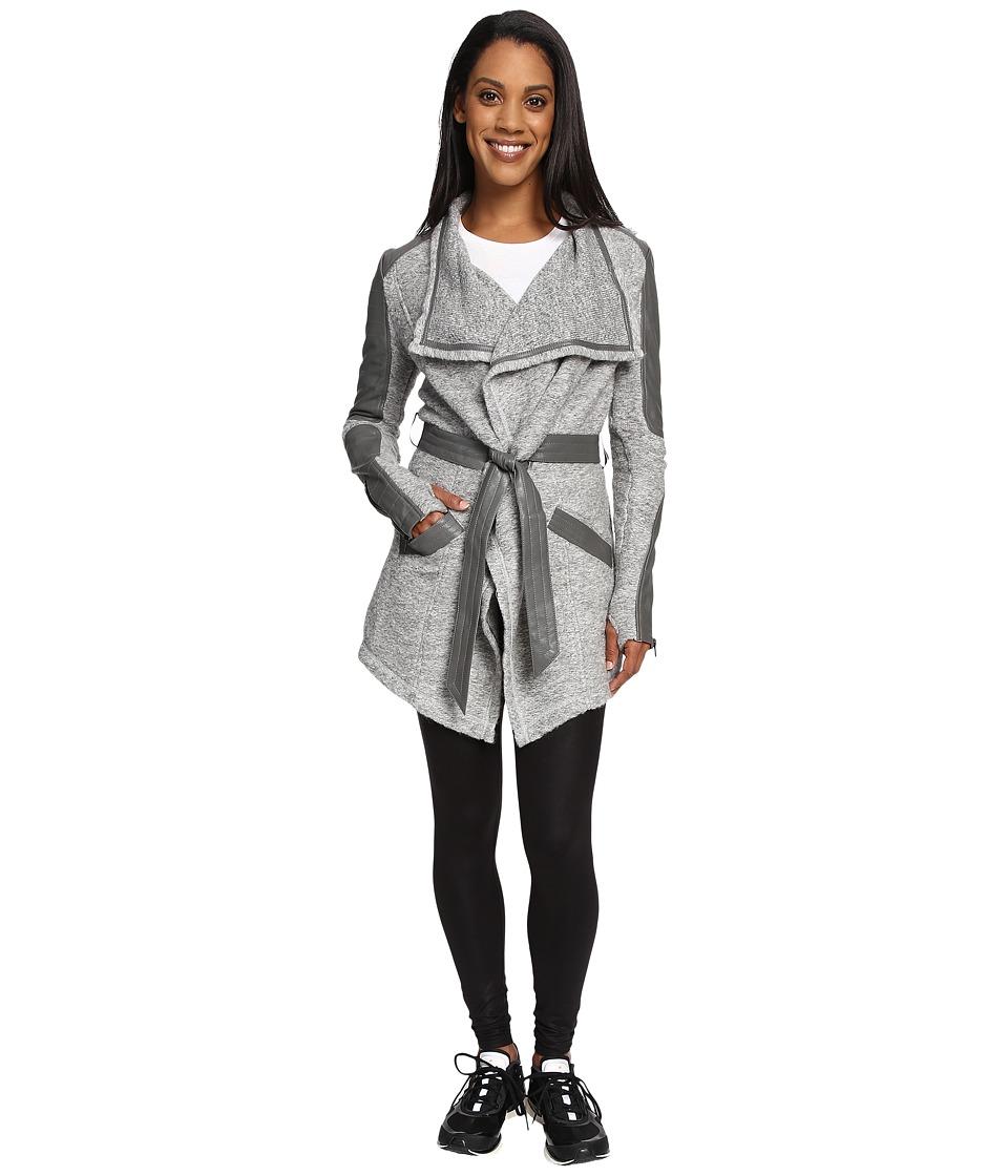 Blanc Noir - Drape Sweater Coat (Heather Grey/Moonstone) Women's Coat