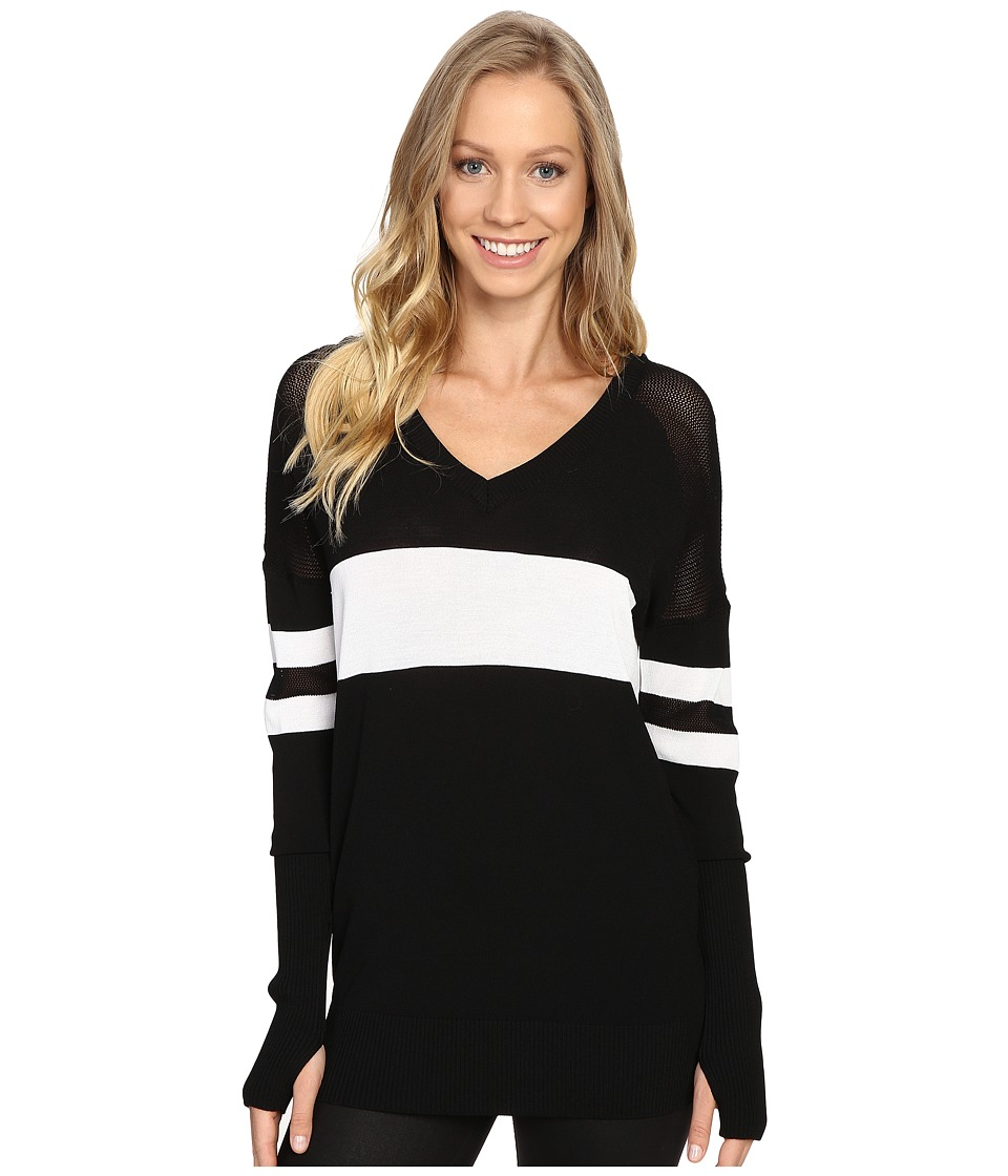 Blanc Noir - Jockey Sweater (Black/White) Women's Sweater