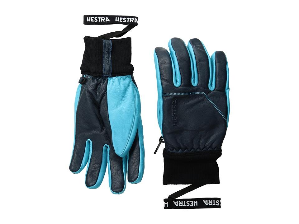 Hestra - Omni (Navy/Turquoise) Ski Gloves