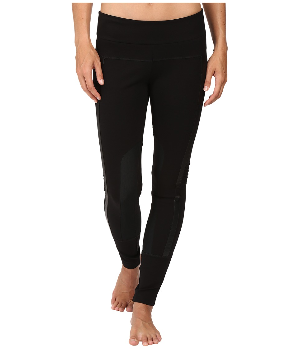 Blanc Noir - Performance Mesh Paneled Leggings (Black) Women's Casual Pants
