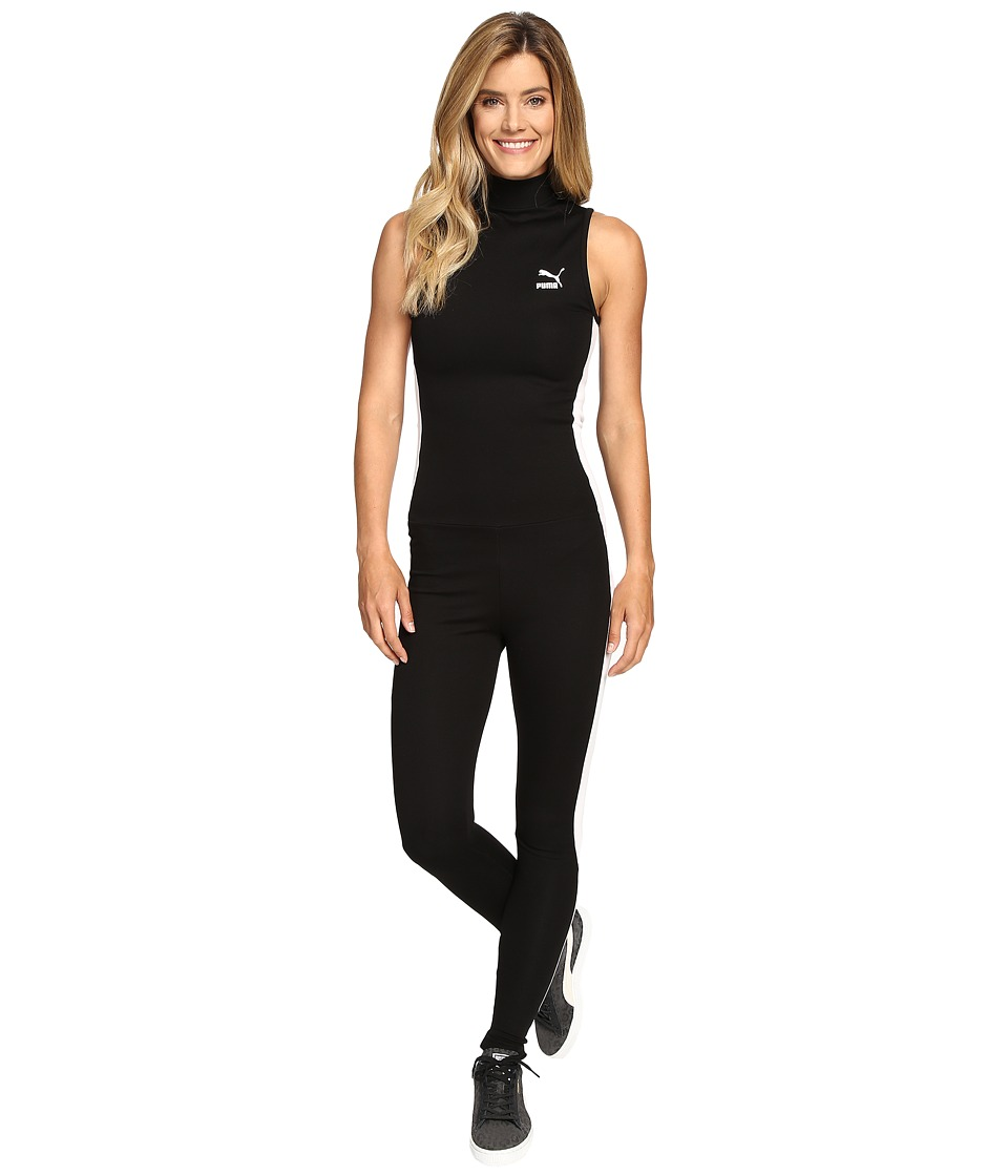 PUMA - T7 Jumpsuit (PUMA Black/White) Women's Jumpsuit & Rompers One Piece