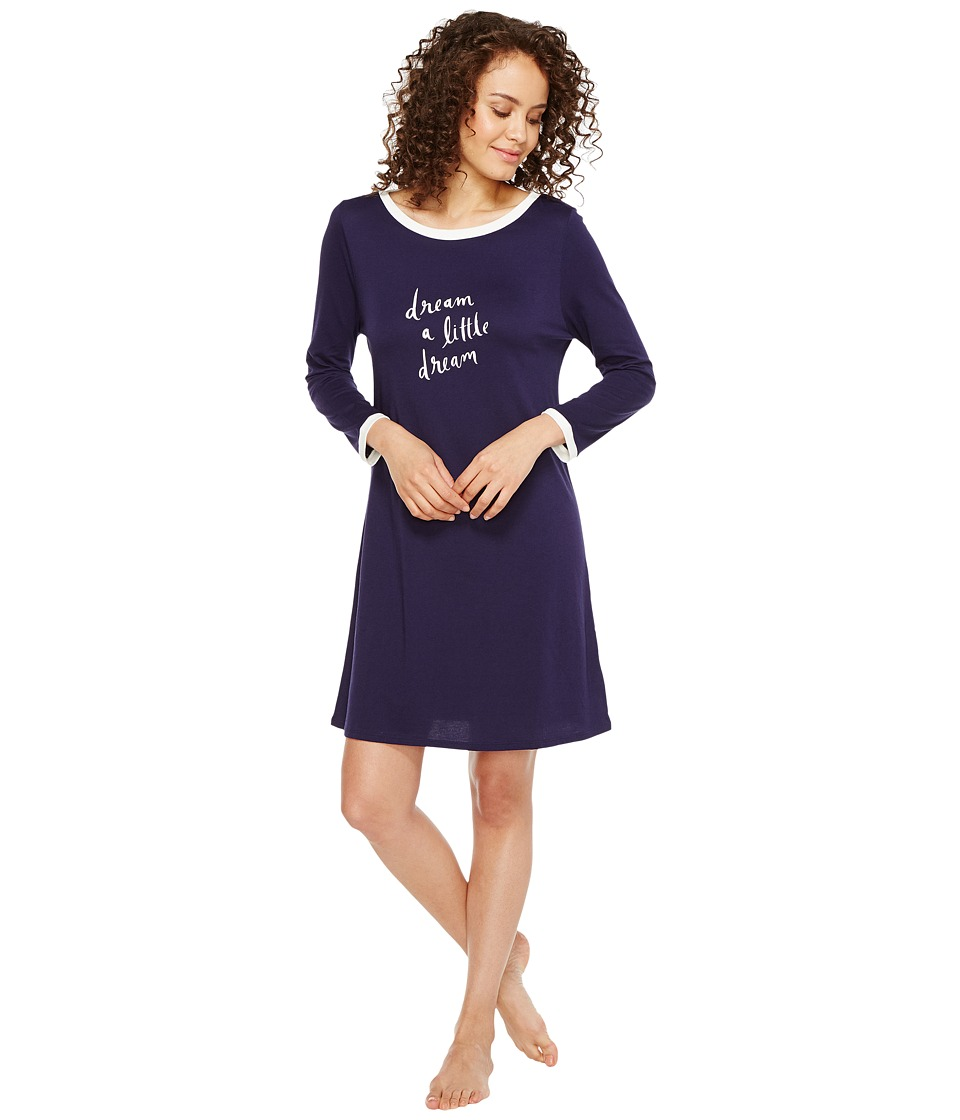 "Kate Spade New York - Dream A Little Dream Navy Sleepshirt (New Navy ""Dream A Little Dream"") Women's Pajama"