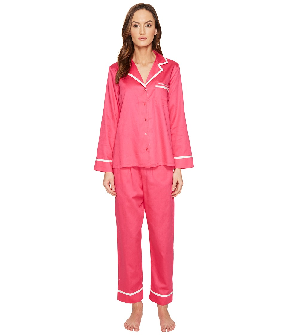 "Kate Spade New York - Rose Petal Make Me Blush Long PJ Set (Rose Petal ""Make Me Blush"") Women's Pajama Sets"