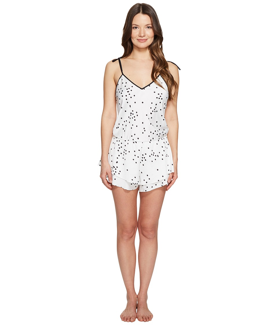 Kate Spade New York - Confetti Dot Charmeuse Romper (Confetti Dot) Women's Jumpsuit & Rompers One Piece