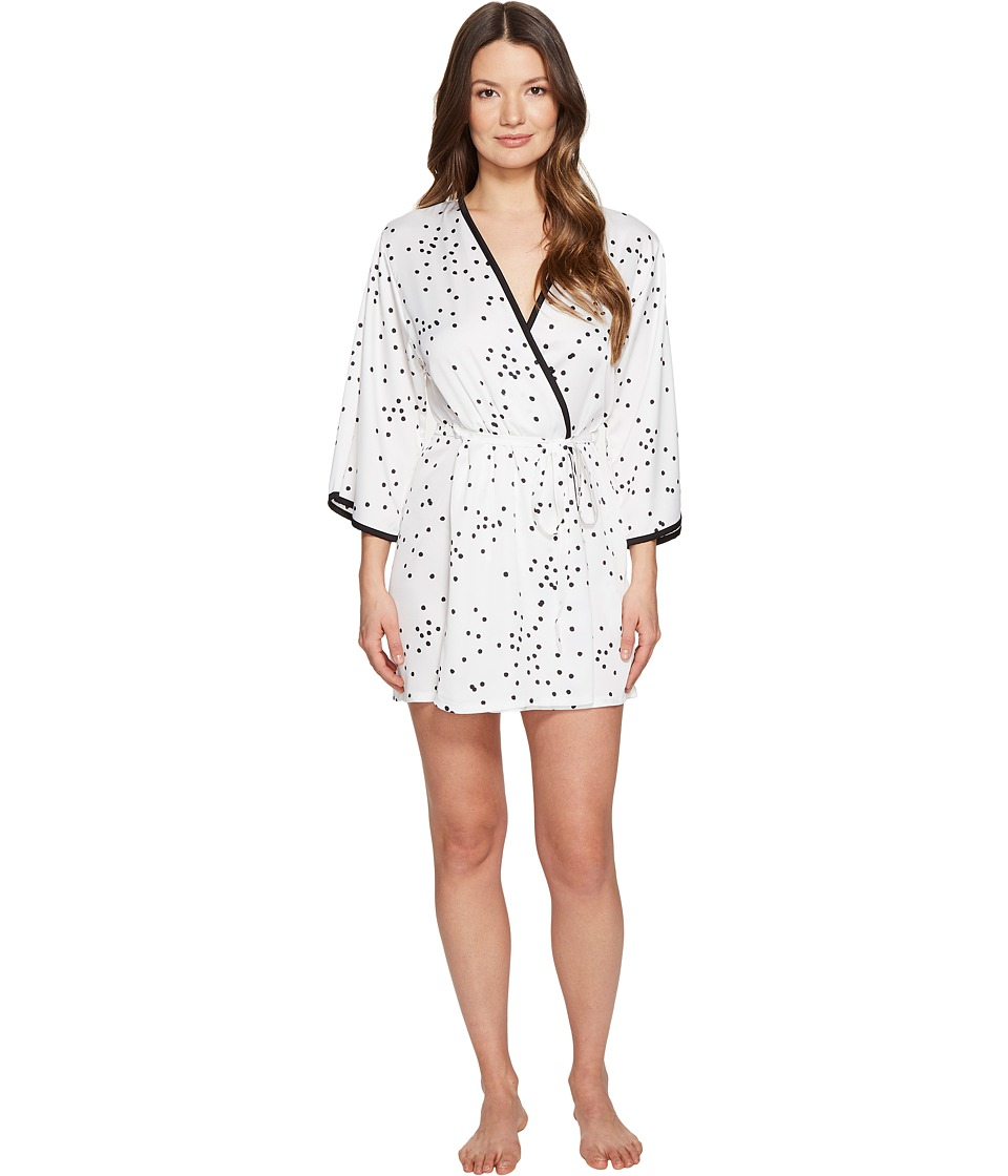 Kate Spade New York - Confetti Dot Charmeuse Robe (Confetti Dot) Women's Robe