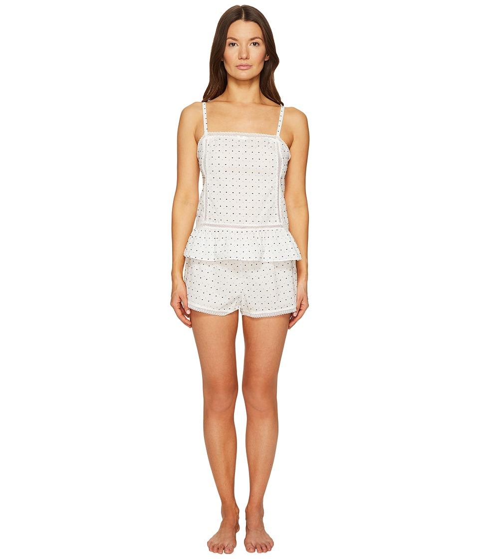 Kate Spade New York - Clipped Swiss Dot Short PJ Set (Swiss Dot) Women's Pajama Sets