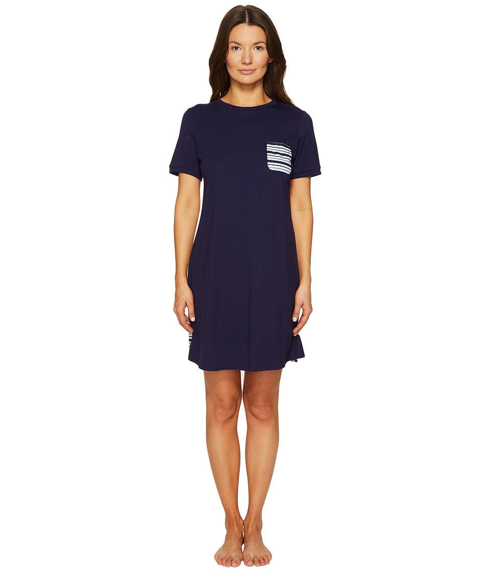 Kate Spade New York - Navy Stripe Sleepshirt (Navy/Stripe) Women's Pajama