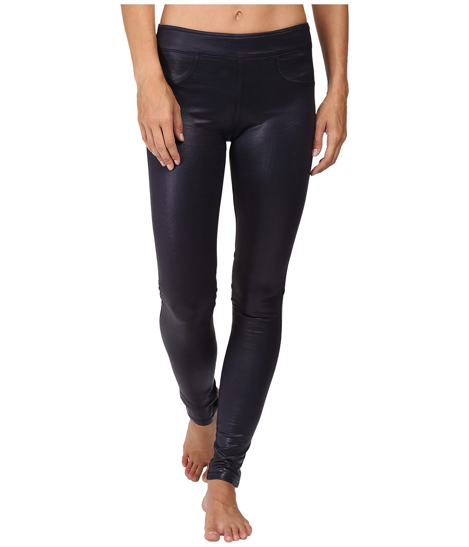 Blanc Noir London Street Pants (Midnight Cracked Leather) Women's Casual Pants