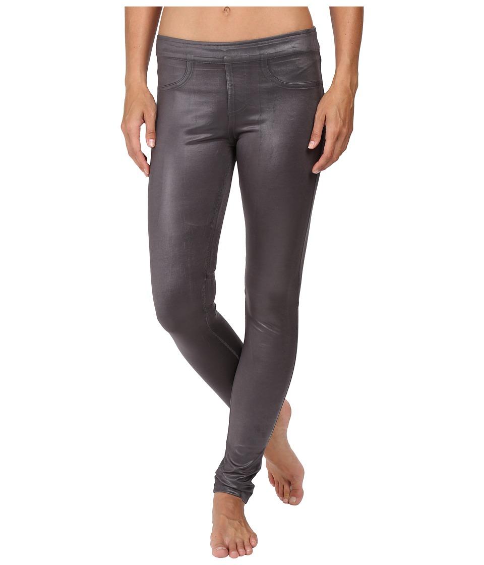 Blanc Noir - London Street Pants (Moonstone Cracked Leather) Women's Casual Pants