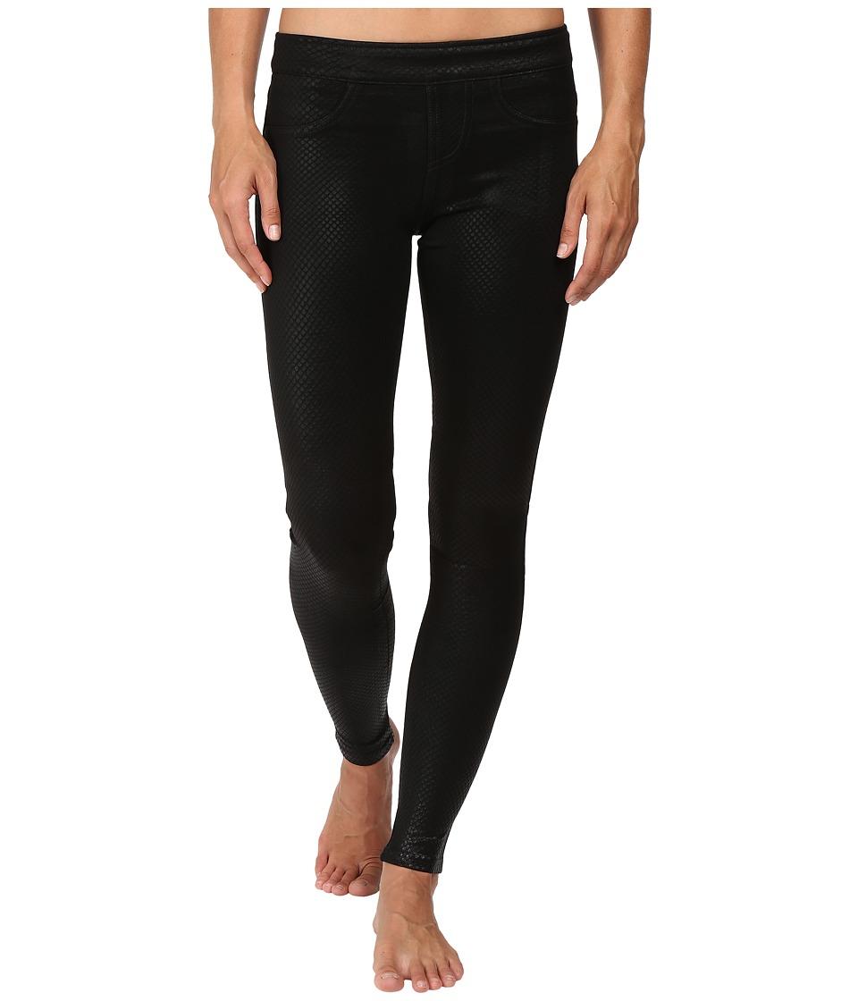Blanc Noir London Street Pants (Obsidian Embossed Reptile) Women's Casual Pants