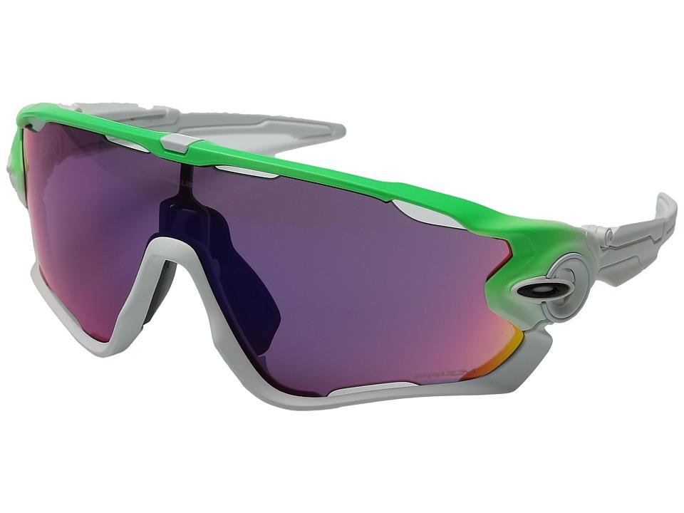 Oakley - Jawbreaker (Green Fade w/ Prizm Road) Sport Sunglasses