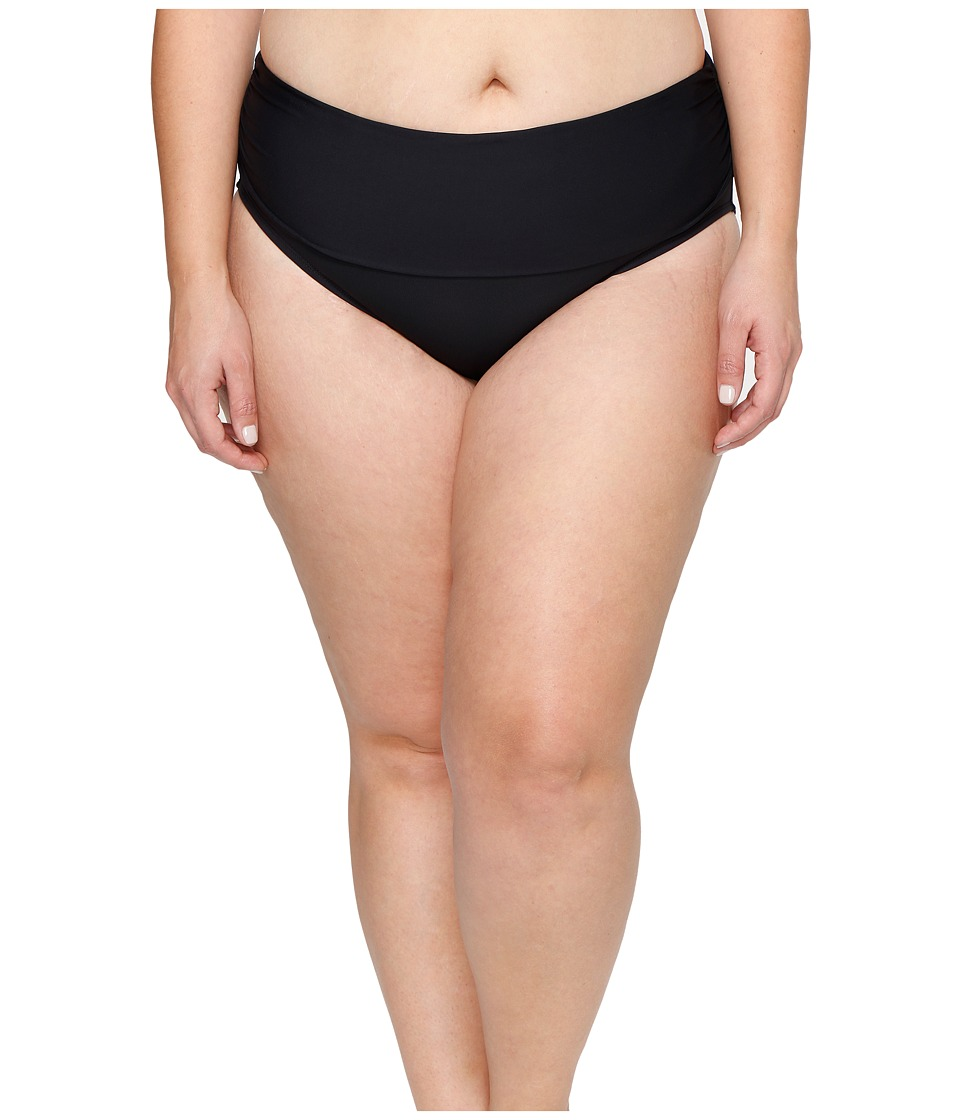 Bleu Rod Beattie - Plus Size Knotty But Nice Midster Bottom (Black) Women's Swimwear