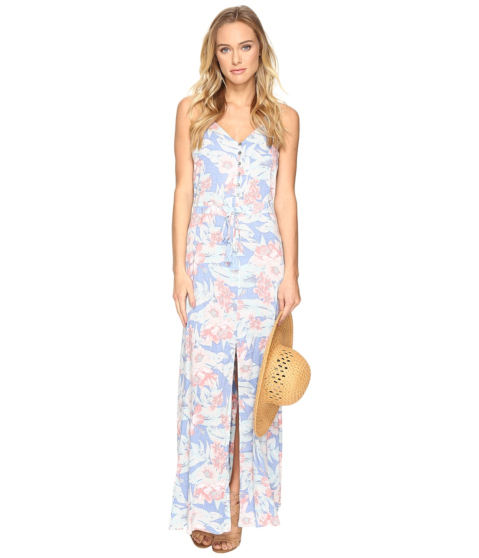 Rip Curl Mia Flores Maxi Dress (Light Blue) Women