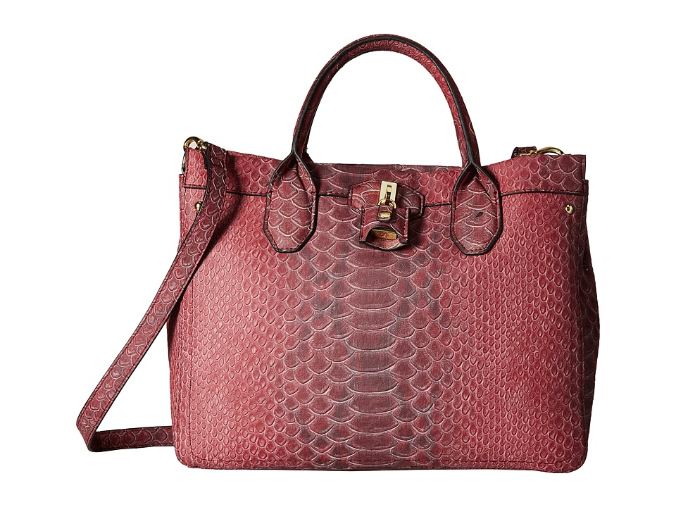 London Fog - Windsor Shopper (Beet Snake) Tote Handbags