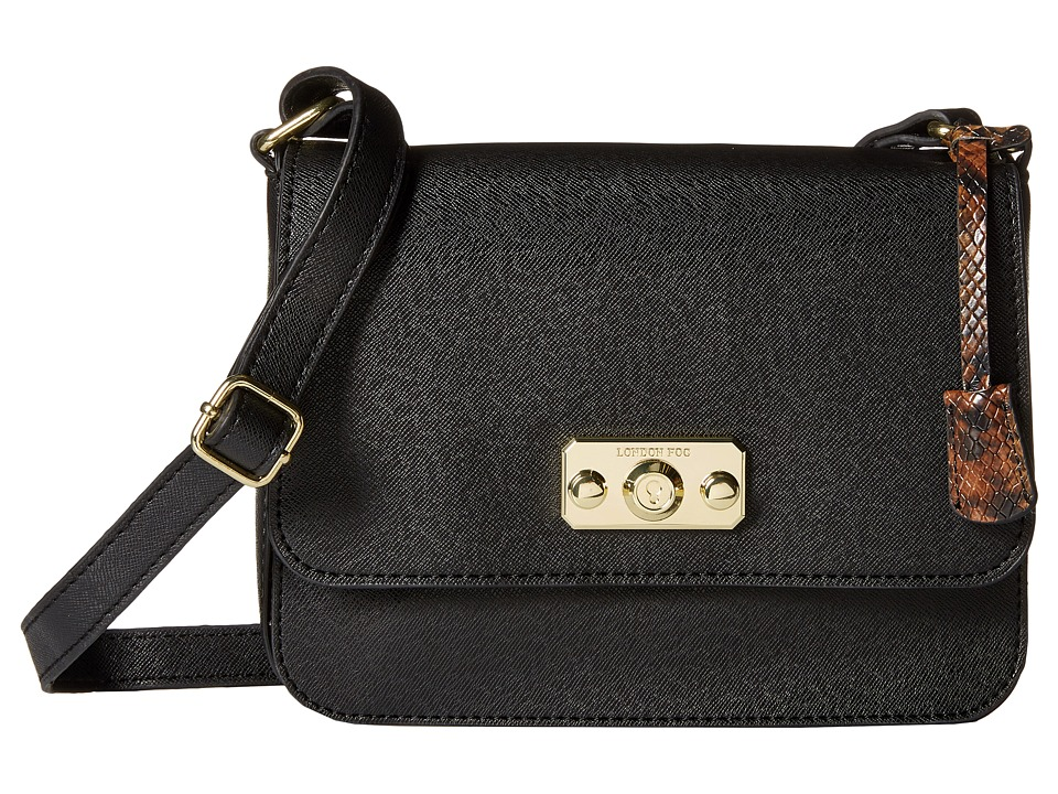 London Fog - Strattford Crossbody (Black) Cross Body Handbags